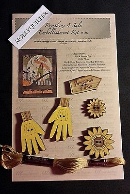 PUMPKINS 4 SALE  ACCESSORY KIT Happy Hollow Designs   Fall Halloween Scarecrow  (Halloween Quilt Kits Sale)