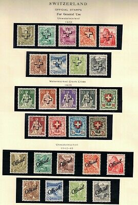Switzerland 1938-45 Lot of 27 Official Stamps For General Use