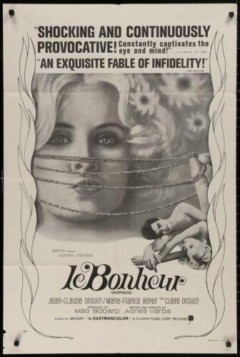LE BONHEUR ORIGINAL Agnes Varda 1965 1 SHEET MOVIE POSTER 27 x 41