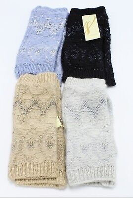 New Arctic Nation Arm Warmer Metallic Fingerless Gloves by Collection 18 - Metallic Gloves