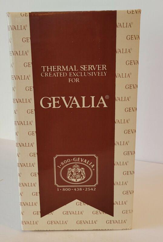 GEVALIA White Coffee Thermal Insulated Server Carafe Pot - 1 Quart