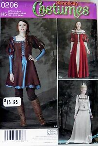 Simplicity FF Costume Patterns Adult Kids  Halloween Renaissance Fantasy Theatre