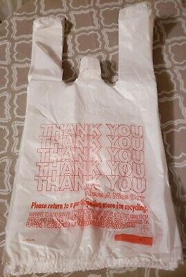 New 80ct. Small Plastic T-Shirt Thank You Carry Out Bags-7