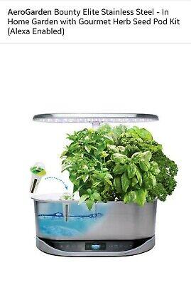 AeroGarden 903134-1100 Bounty Elite Indoor Hydroponic Herb Garden Alexa enabled! Herb Garden Indoors
