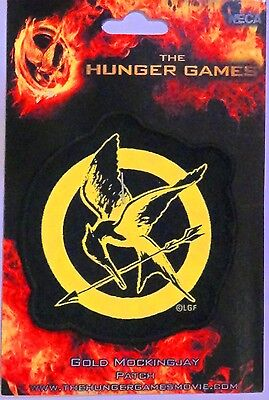NEW! Hunger Games Katniss Gold Mockingjay Patch! about 3.5 inches good size!