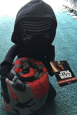 NEW Star Wars Child's Kylo Ren Stuffed Toy & Plush Blanket/Throw Set $50