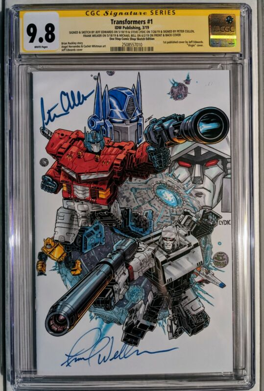 Transformers #1 CGC SS 9.8 signed By Artists and Original Voice Actors.