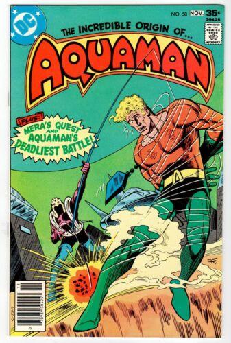 AQUAMAN #58 - Origin Retold - NM Nov 1977 Vintage DC Comic