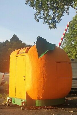 Orange Fruit Slushie Shaved Ice Snack Concession Stand