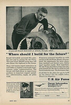 1961 US Air Force Recruiting Ad Recruit Enlistment USAF Recruitment