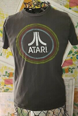 Men's Gray Vintage Atari Graphic T-Shirt Tee Size S Ripple Junction
