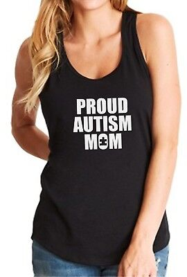 Tank Top Proud Autism Mom Shirt Gift for Mommy Autism Awareness Day Puzzle Piece ()
