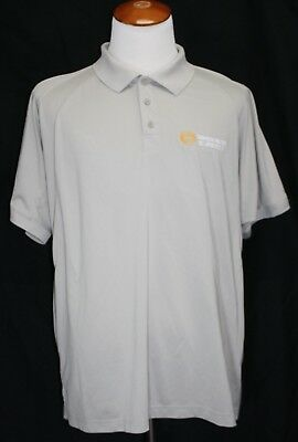Thomson Reuters Dc Operations Embroidered Polo Shirt Taupe Xl Excellent