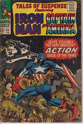 Tales of Suspense 86 - 1967 - Iron Man, Captain America - Kirby - Fine +