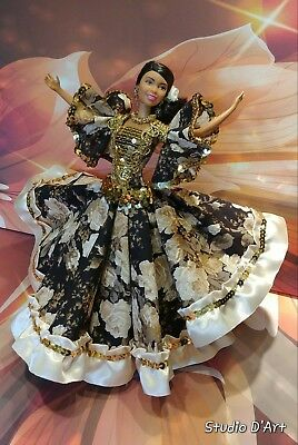 Barbie doll in Spanish dance costume.Gypsy dooll, gypsy dancer. Handmade.](Costume In Spanish)