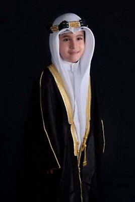 Kids Bisht Arabic Dress Cloak Islamic boysThobe Sheik Imaam Robe Hight quality