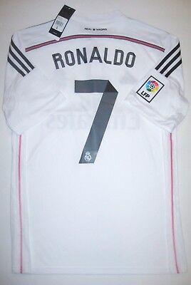New Real Madrid Cristiano Ronaldo Adidas Home White Jersey Portugal 2013 2014