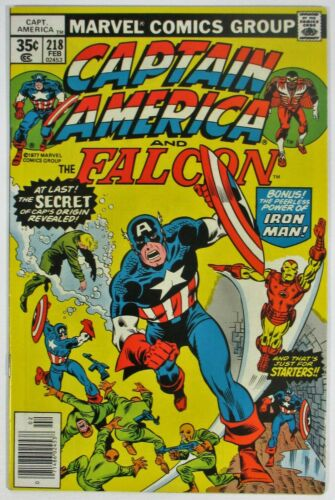Captain America and the Falcon #218 High Grade Iron Man Marvel Comics 1978