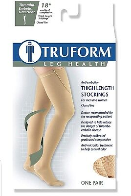 TED Surgical Thigh High ♡ Sz S 18mmhg BEIGE Compression Stockings Truform - Ted Compression Stockings