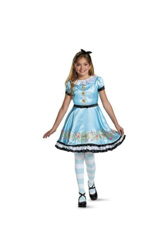NEW DESCENDANTS WICKED WORLD ALLY HALLOWEEN COSTUME BLUE ALICE SIZE 4 5 6 SMALL