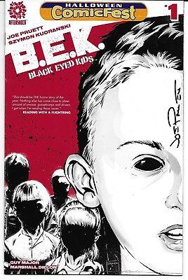 Black-Eyed Kids 1 Halloween ComicFest Cover Signed by Joe Pruett Autographed