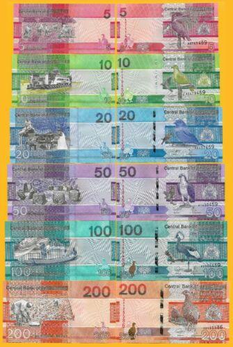 Gambia Full Set 5, 10, 20, 50, 100, 200 Dalasis p-new 2019 UNC Banknotes
