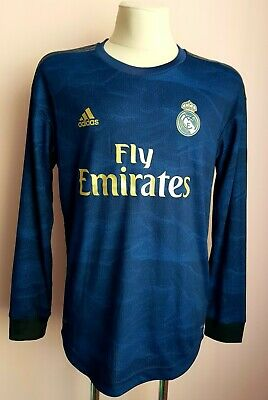 Real Madrid 2019-2020 Away football  Adidas climachill l/s Jersey Player Issue image