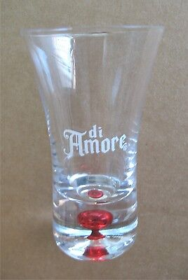 Di Amore Shooter Shot Glass 2 Oz Sleek Red Drop Design Aperitif Dessert Liqueur  - Shot Glass Desserts