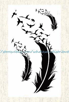 US SELLER, best wrist tattoos bird feather temporary tattoo