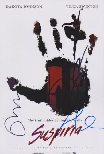 Dakota Johnson/Tilda Swinton/Luca Guadagnino Signed Suspiria 12x8 Photo AFTAL