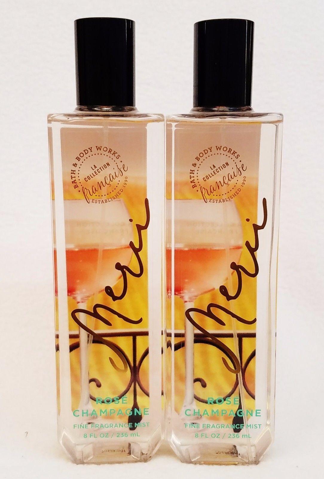 2 Bath & Body Works MERCI ROSE CHAMPAGNE Fine Fragrance Mist