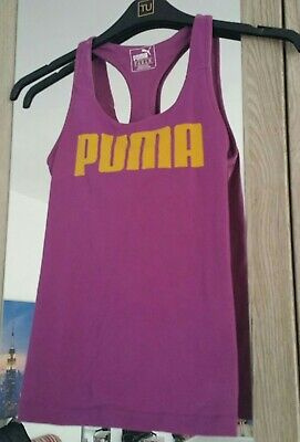 Uk 10 Womens Puma Sports Top Excellent Condition Gym Fitness Top was £20+ for sale  Shipping to Nigeria