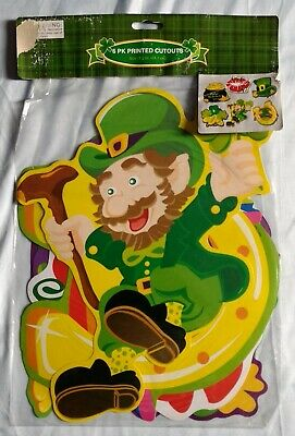 St. Patrick's Day 6 piece printed cutout Decorations