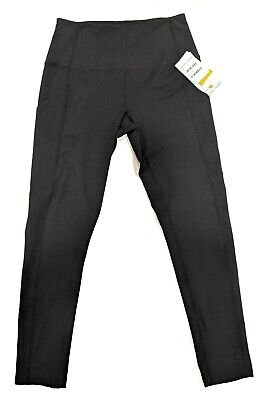 Zella High Waist Daily Pocket 7/8 Leggings Black Women's Size Small NWT Defect
