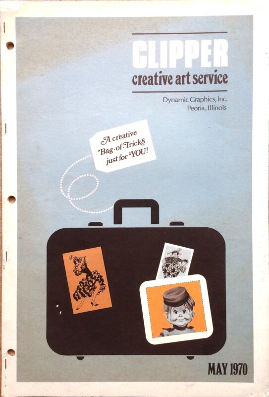 Vtg Clipper Creative Iconic American Commercial Art Large Format Book May 1970