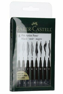 Faber-Castell 8 Ct. PITT Artist Pen Wallet-Assorted Nibs