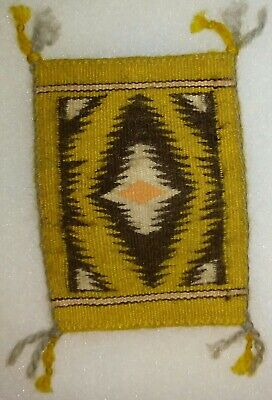 Indians Authentic Mini - Authentic Native American Indian Navajo Mini Rug by Elizabeth Begay
