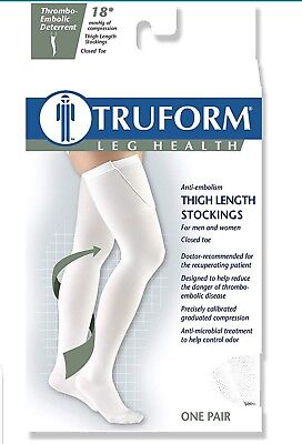 TED Surgical Thigh High Sz M 18mmhg WHITE Compression Stocking Truform - Ted Compression Stockings