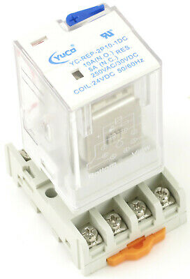 Yuco Ice Cube General Purpose Relay 8 Pin Socket 2pdt 10 Amp Choose Voltage