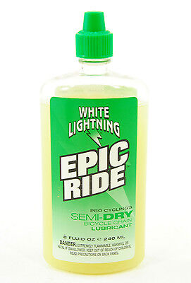 Green Ride (White Lightning Epic Ride Green Bicycle Chain Lube 8 oz)