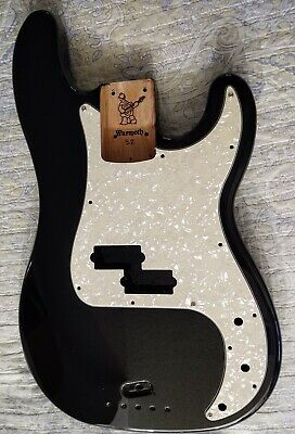 Warmoth P bass body- HOG Black finish Mahogany Wood