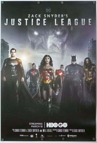 Zack Snyders Justice League - original DS movie poster 27x40 D/S - INTL 2021