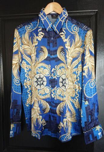 Chemise soie versace baroque 100% silk mens shirt t39