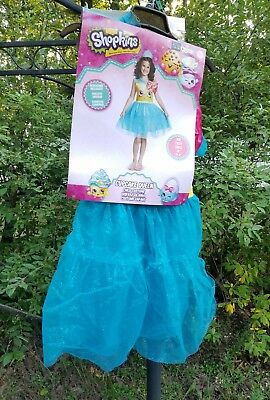 Shopkins Cupcake Queen Child Girls Halloween Costume - Size Medium 7-8
