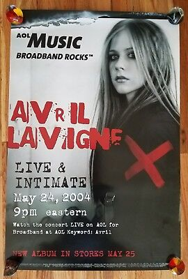 AVRIL LAVIGNE: Live and Intimate Appearance and Record Release Poster 2004