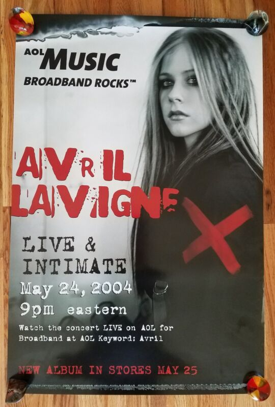 AVRIL LAVIGNE: Live and Intimate Appearance and Record Release Poster 2004 RARE!