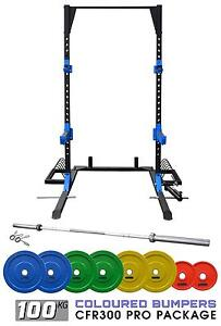Squat rack/ Half rack / Bumper plates +Bars + Accessories Package Malaga Swan Area Preview