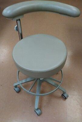 Pelton Crane Rolling Dental Doctor Physician Chair Tan Rotary Adjustable Arm