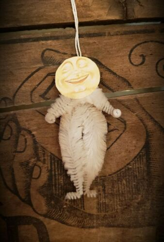 MAN in the MOON Vintage Style Chenille Ornaments - Set of 3
