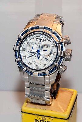 Invicta 11038 Reserve Bolt Sport Chronograph Mens Watch Silver Case, Blue Face